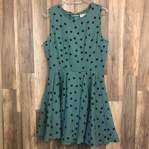 Maison Jules Polka Dot Fit & Flare Dress